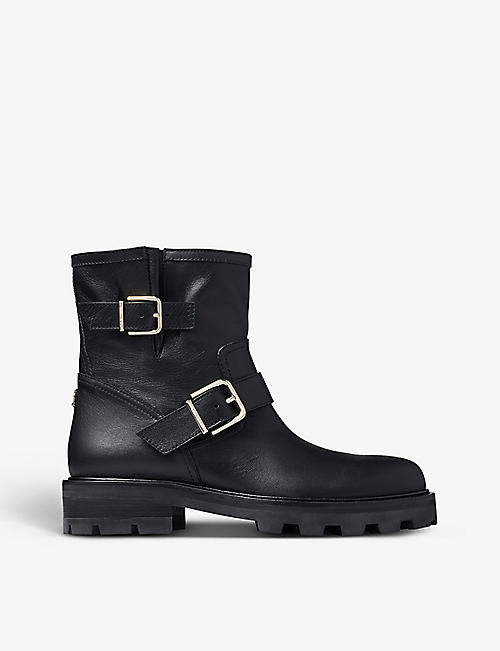 JIMMY CHOO: Youth II leather ankle boots