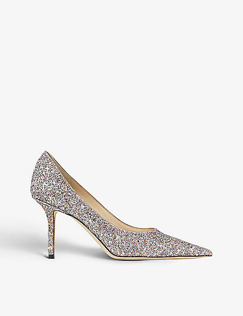 JIMMY CHOO: Love 85 glittered courts