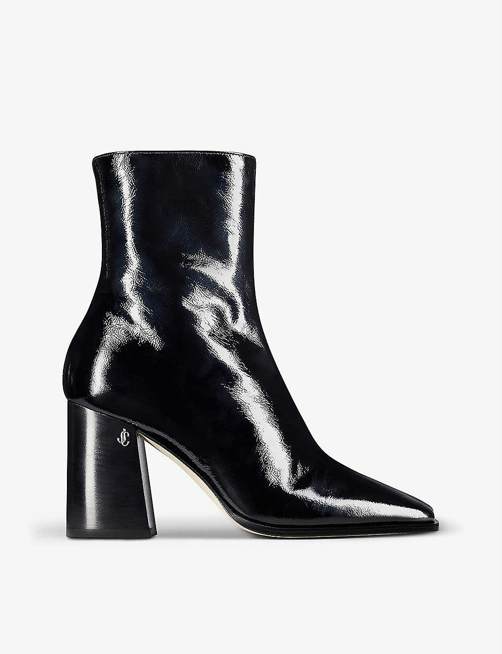 JIMMY CHOO: Bryelle 85 patent-leather ankle boots
