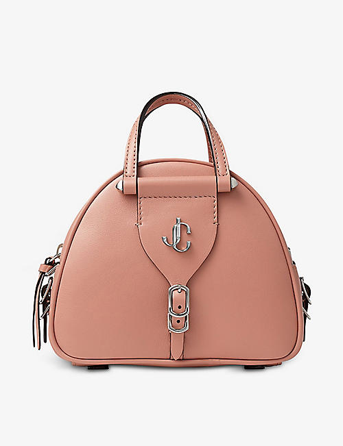 JIMMY CHOO: Varenne mini leather bowling bag