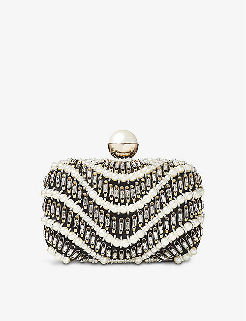JIMMY CHOO: Cloud Wave crystal-embellished bag