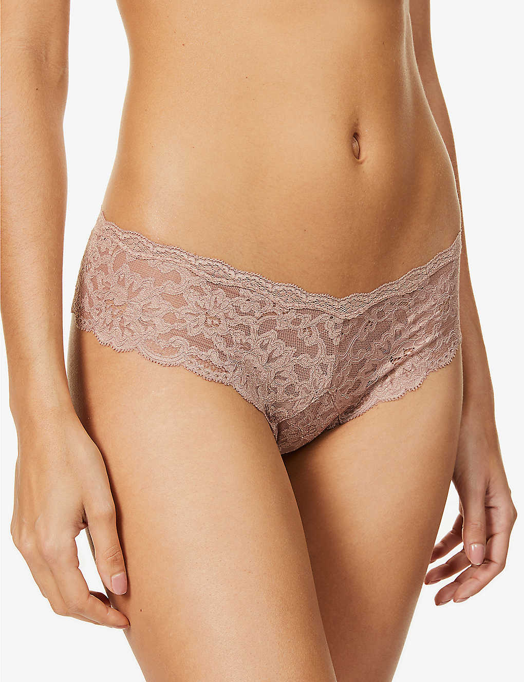 FLEUR DU MAL: Charlotte Cheeky seamless low-rise stretch-lace briefs