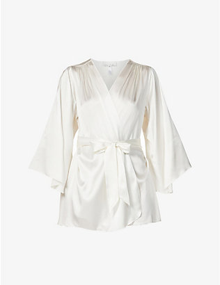 FLEUR DU MAL: Angel Sleeve stretch-silk dressing gown