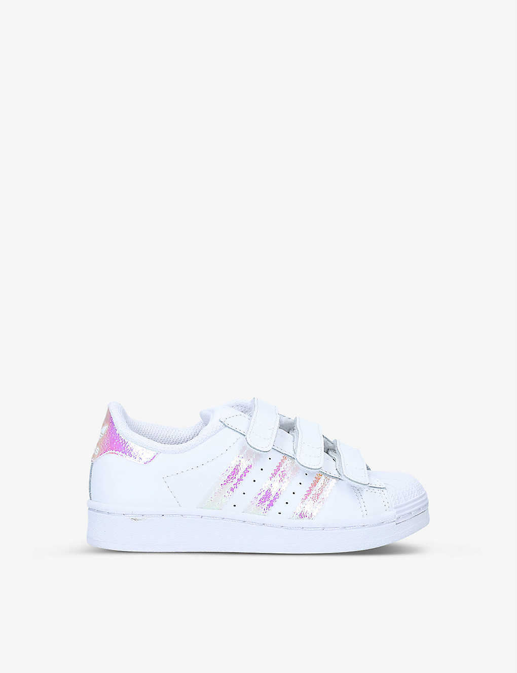 ADIDAS: Superstar iridescent-detail leather trainers 6-9 years