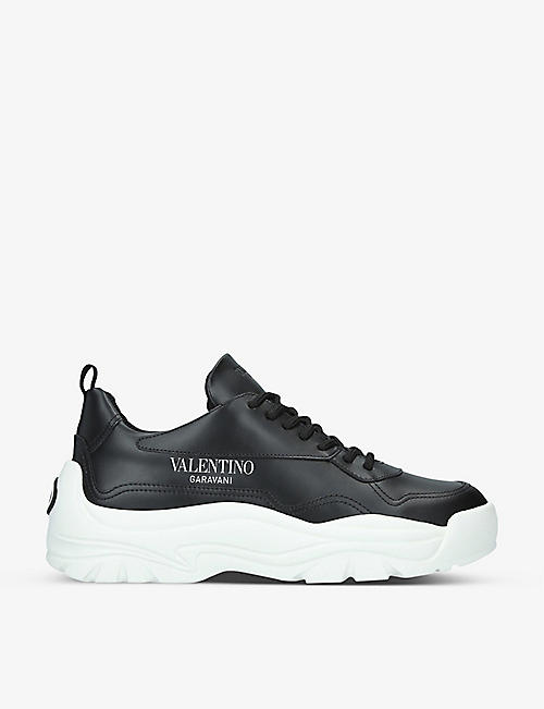 VALENTINO GARAVANI: Gumboy panelled leather low-top trainers
