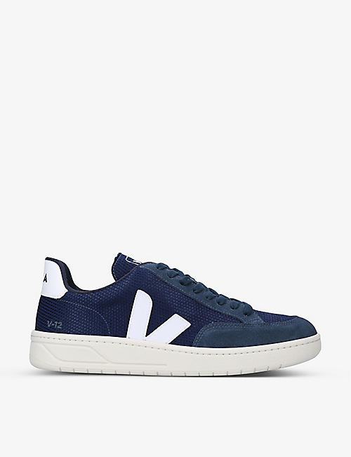 VEJA: V12 mesh and suede trainers