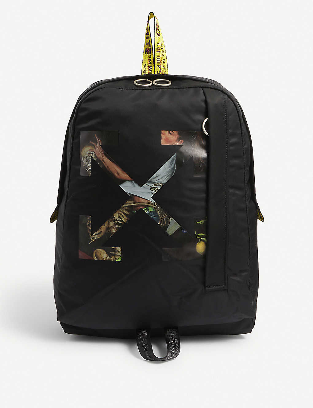 OFF-WHITE C/O VIRGIL ABLOH: Pascal graphic-print woven backpack