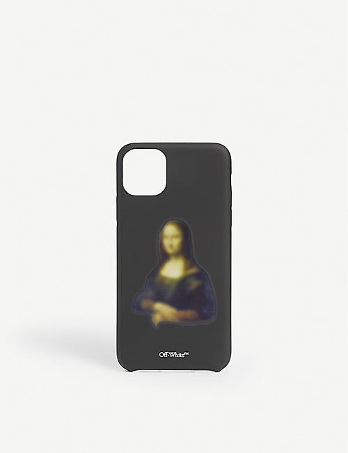 OFF-WHITE C/O VIRGIL ABLOH: Mona Lisa plastic iPhone 11 Pro Max case