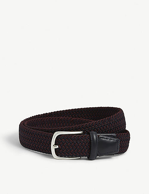 CORNELIANI: Braided leather belt
