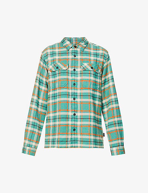 PATAGONIA: Fjord checked organic-cotton flannel shirt