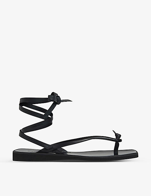 WHISTLES: Dillon knotted leather sandals