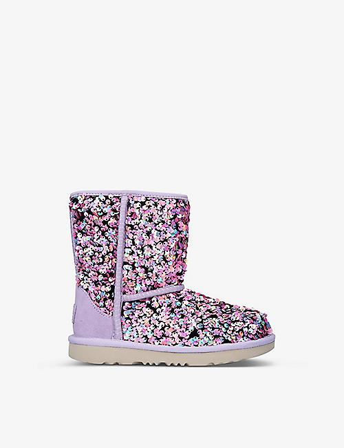 UGG: Classic II Stellar Sequin boots 7-10 years