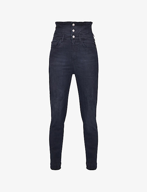 PINKO: Suzie skinny high-rise stretch-denim jeans