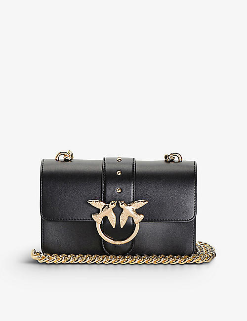 PINKO: Mini Love Simply leather shoulder bag