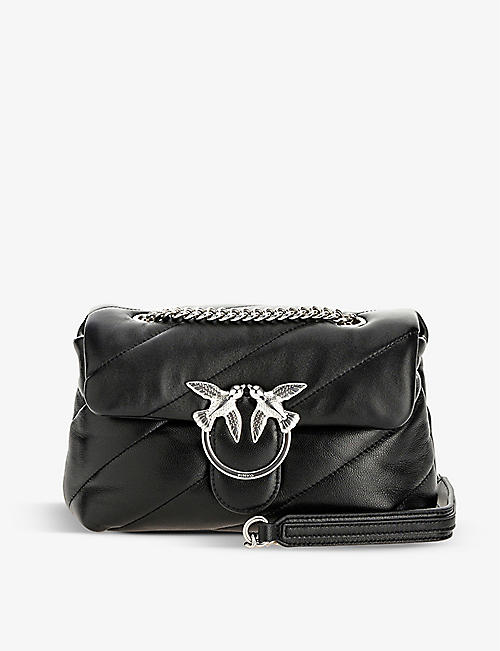 PINKO: Mini Love Puff quilted nappa-leather shoulder bag