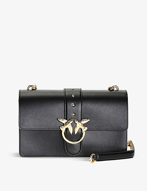 PINKO: Love Simply Icon leather clutch