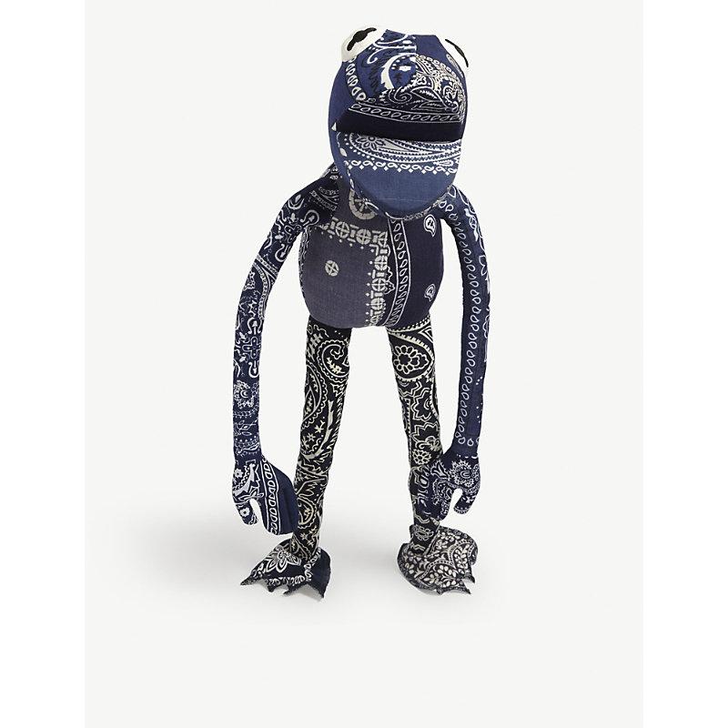 Readymade Frogman Upcycled Bandana Puppet In Navy