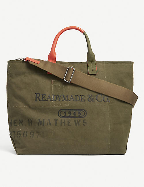 READYMADE: Weekend upcycled cotton tote bag