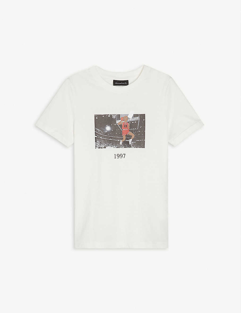 THROWBACK: Michael Jordan graphic-print cotton-jersey T-shirt 4-16 years