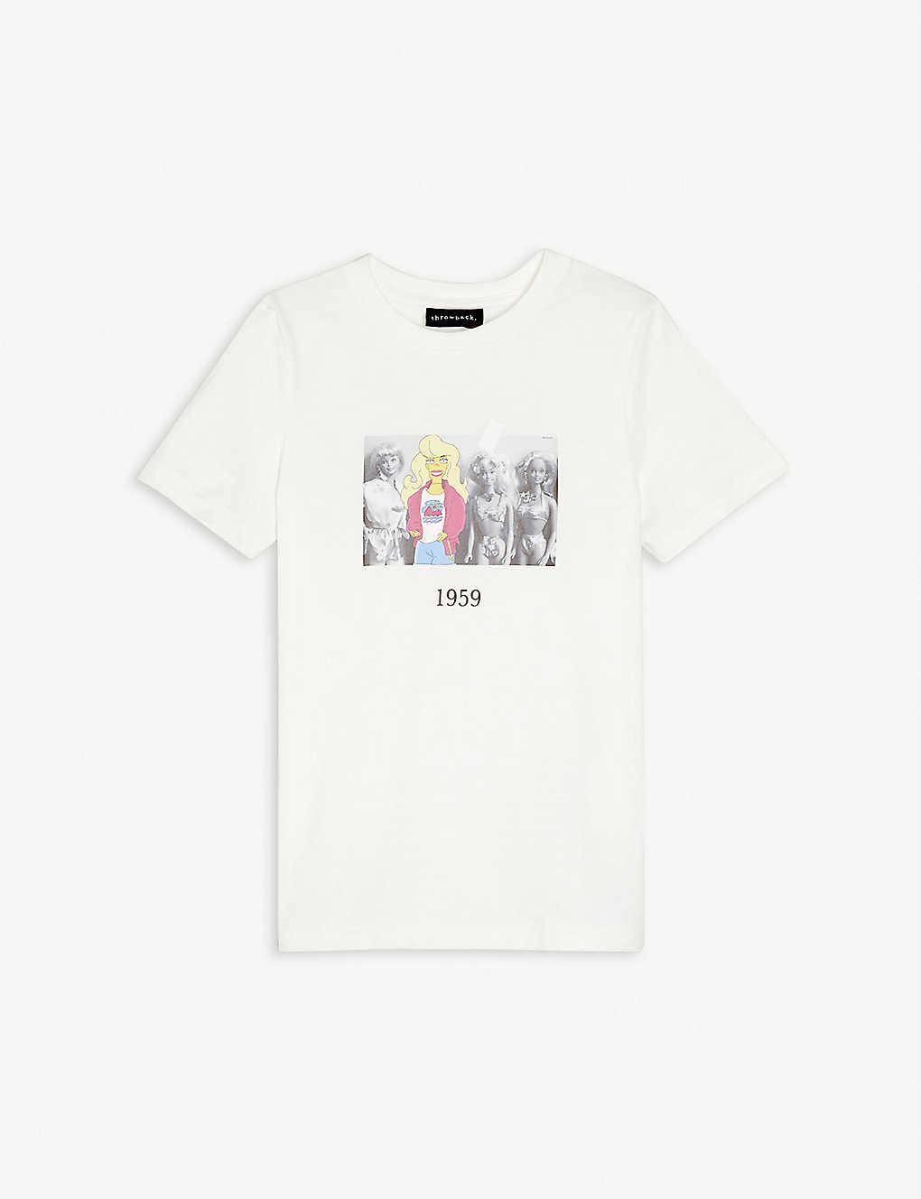 THROWBACK: Barbie graphic-print cotton-jersey T-shirt 4-16 years