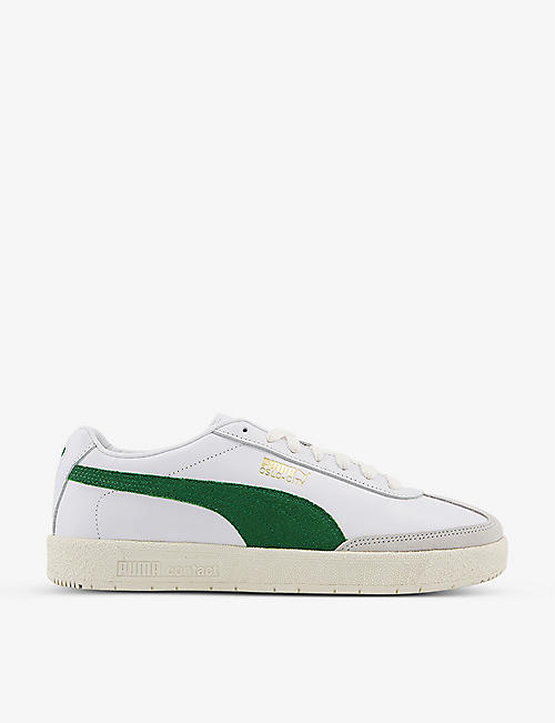 PUMA: Oslo-City leather low-top trainers