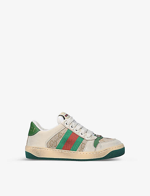 GUCCI: Screener leather trainers 5-8 years