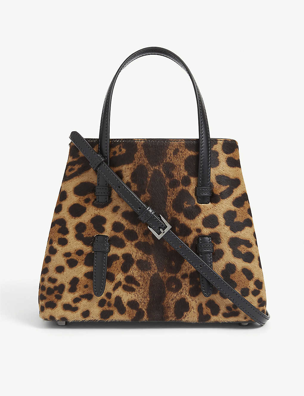 AZZEDINE ALAIA: Mina mini leopard-print leather tote bag