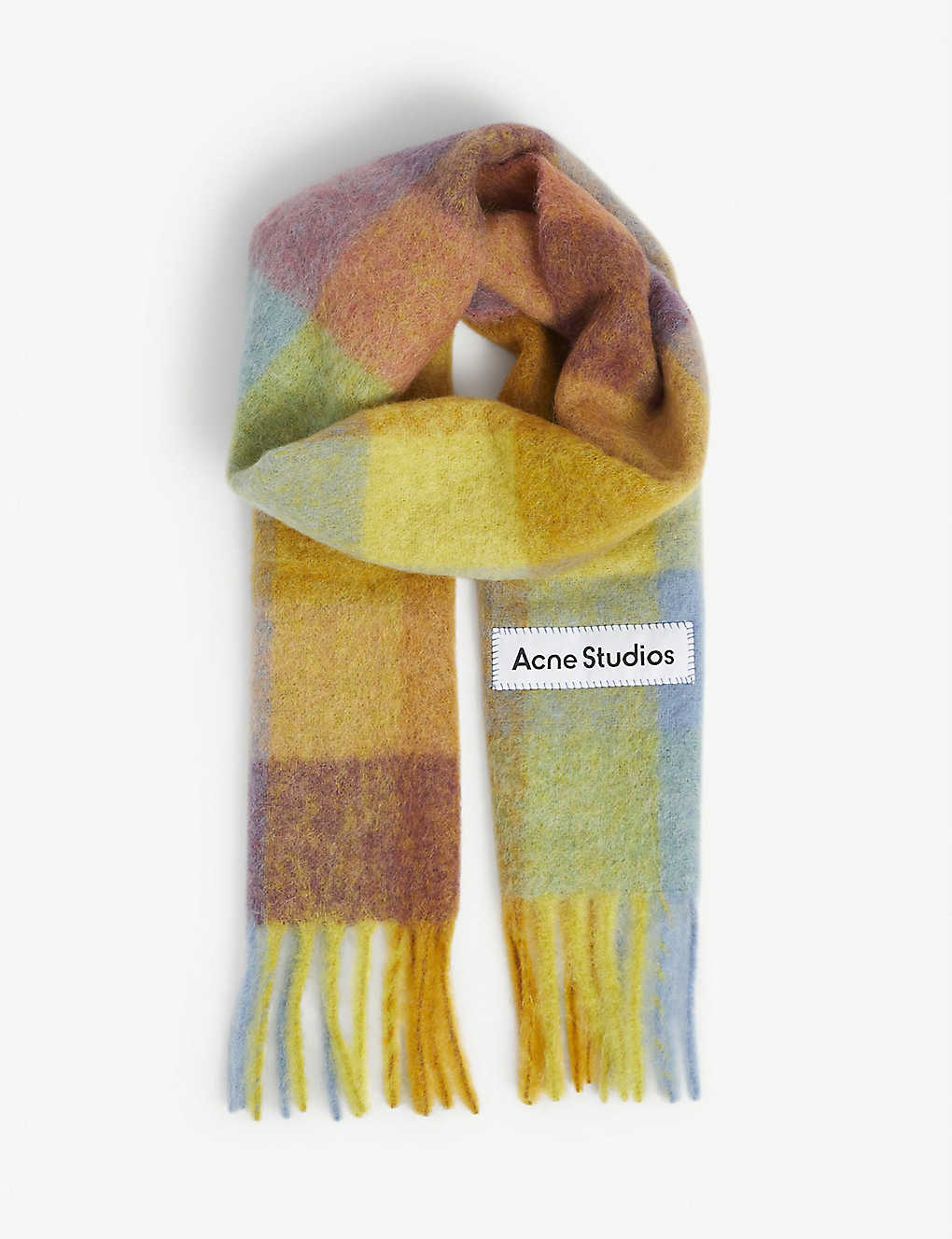 ACNE STUDIOS: Vally checked wool scarf