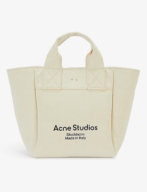ACNE STUDIOS: Aleah cotton-canvas tote bag