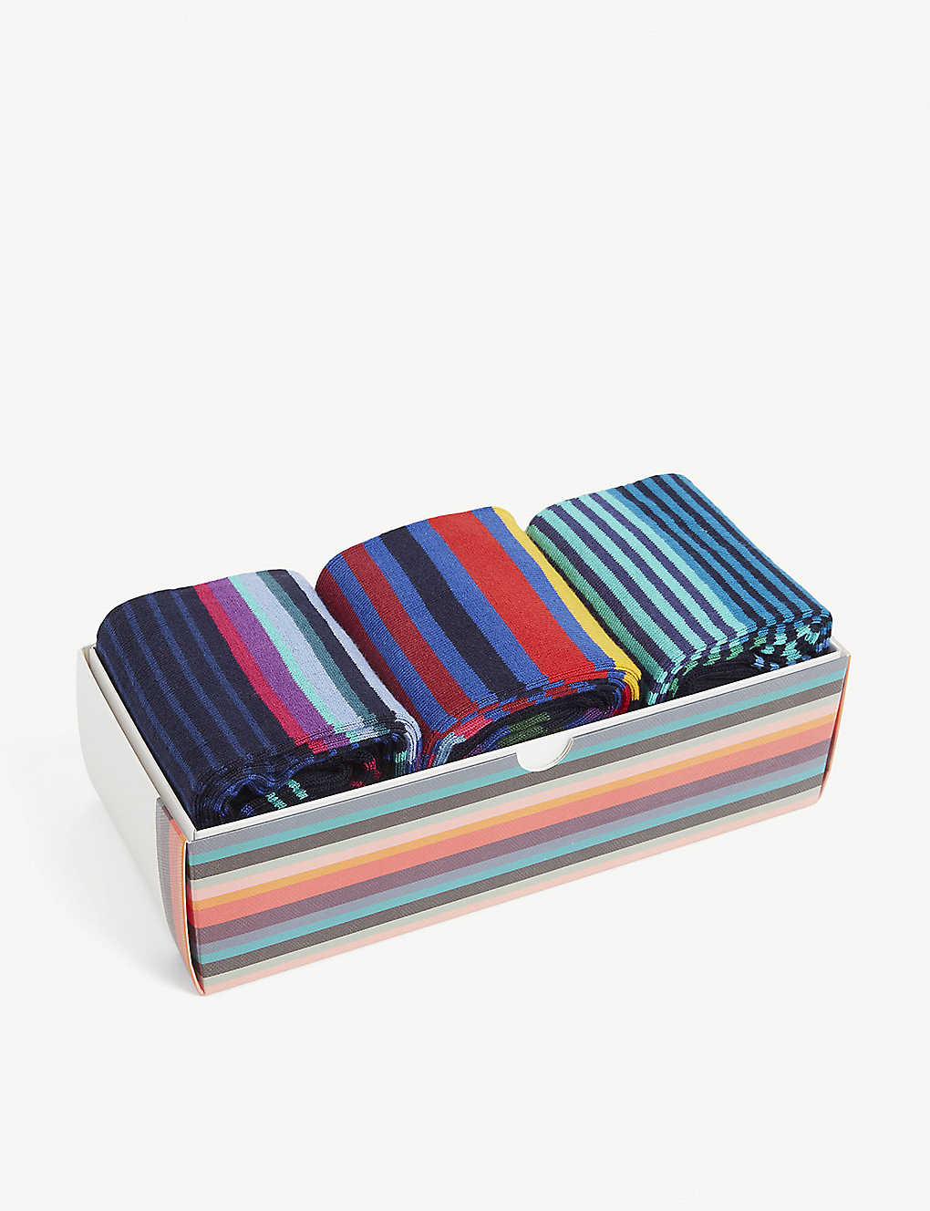 PAUL SMITH: Striped cotton-blend socks pack of three