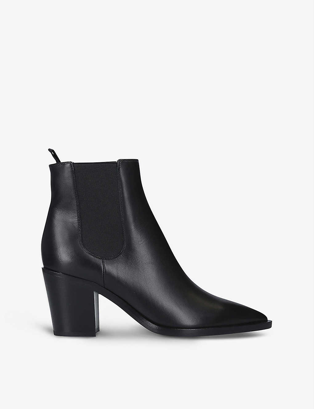 GIANVITO ROSSI: Romney 70 leather block-heel ankle boots
