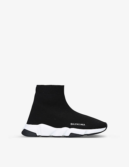 BALENCIAGA: Speed woven mid-top trainers 3-8 years