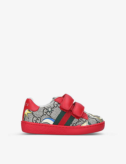 GUCCI: New Ace VL GG canvas trainers 4-8 years