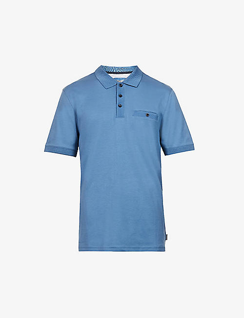 TED BAKER: Pocket-detail cotton polo shirt