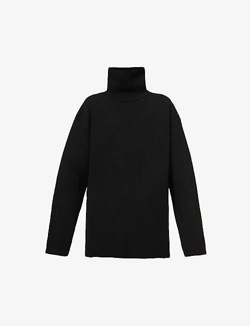 BALENCIAGA: Turtleneck oversized stretch-woven jumper
