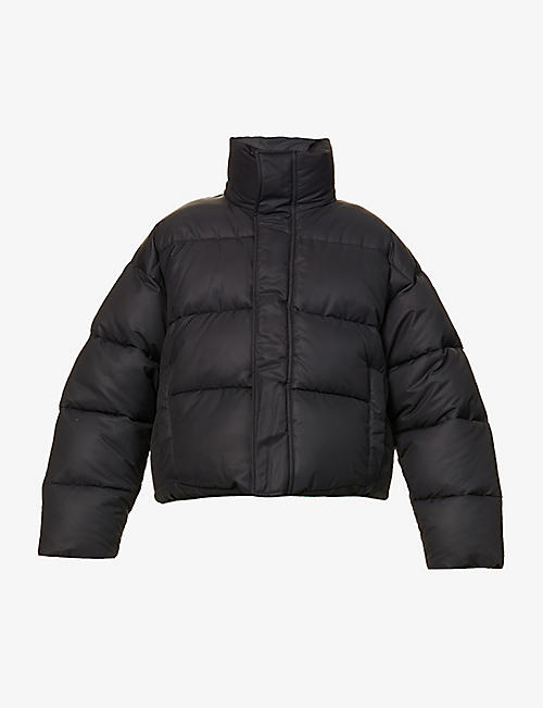 BALENCIAGA: Funnel-neck shell-down puffer jacket
