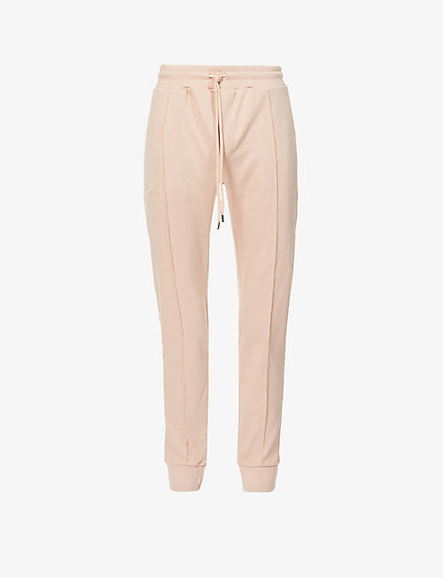 PREVU: Slim fit cotton-jersey jogging bottoms