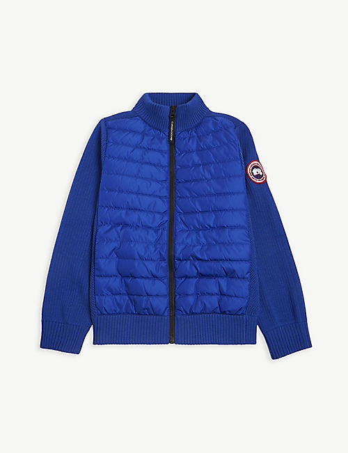 CANADA GOOSE: Hybridge wool and shell-down jacket 7-16 years