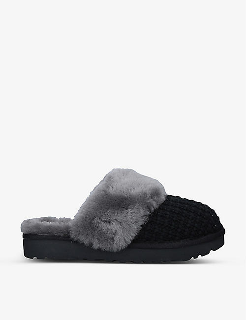 UGG: Cosy cable-knit sheepskin slippers
