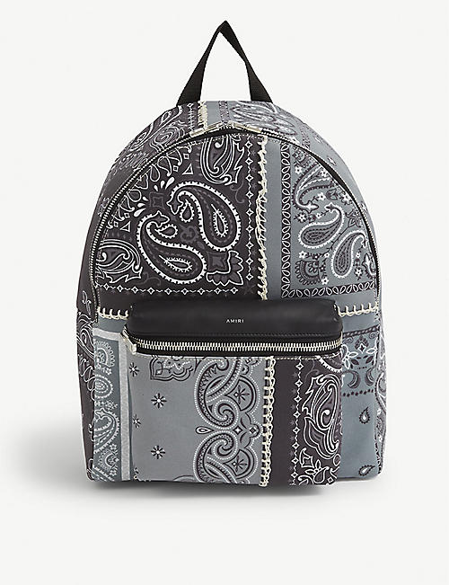 AMIRI: Bandana-print canvas backpack