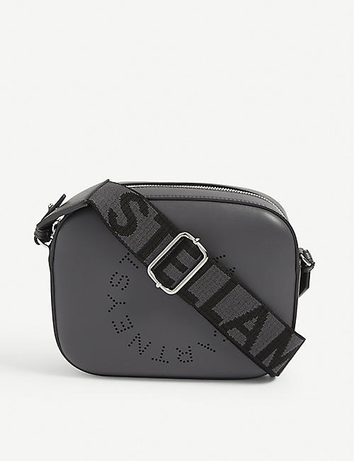 STELLA MCCARTNEY: Stella Logo mini vegan leather cross-body bag