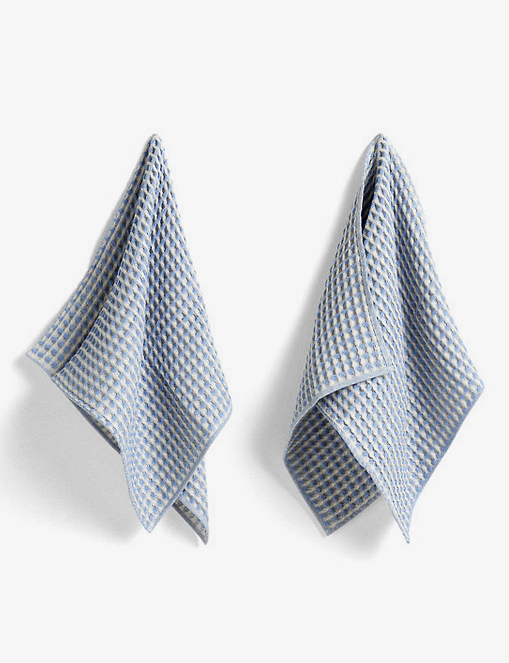 HAY: Twist waffled cotton set of two dish cloths and two tea towels