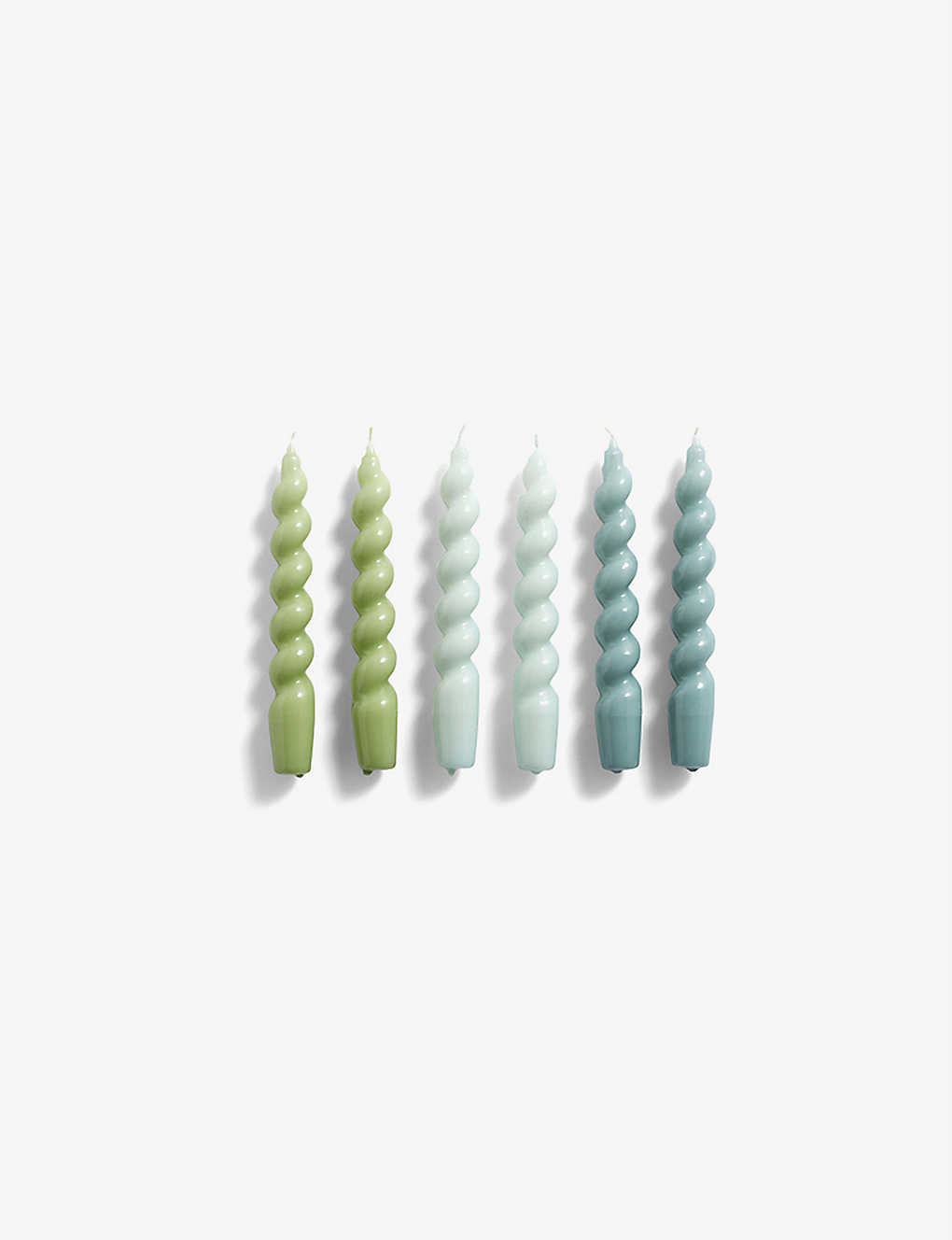 HAY: Spiral candles set of six