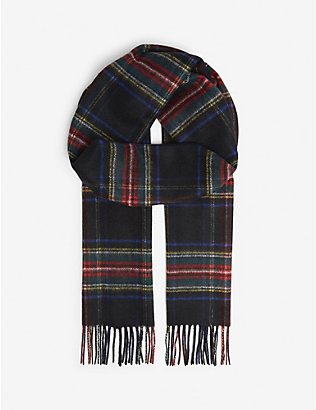 JOHNSTONS: Personalised cashmere scarf