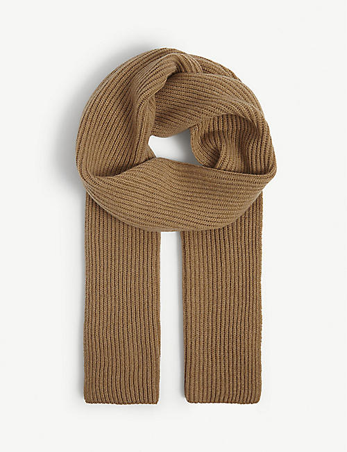 JOHNSTONS: Ribbed cashmere scarf