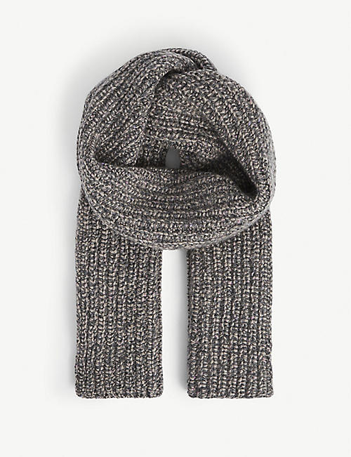 JOHNSTONS: Donegal ribbed cashmere scarf
