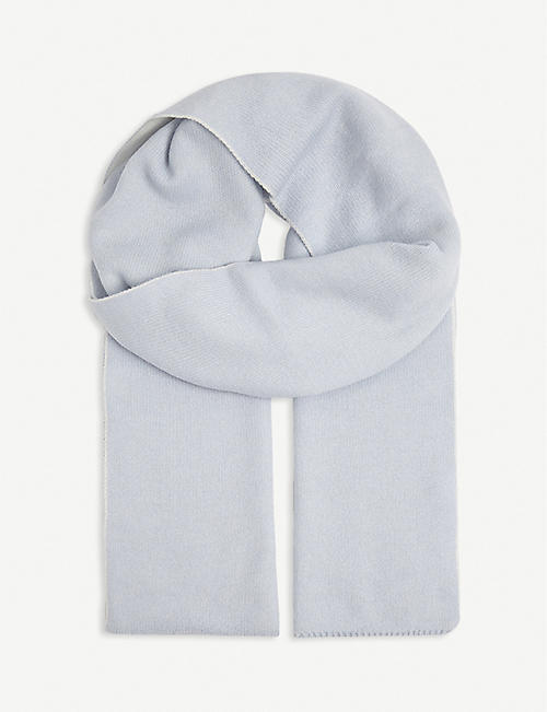 JOHNSTONS: Reversible cashmere scarf