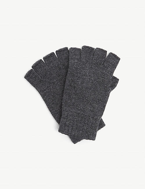 JOHNSTONS: Joe fingerless cashmere gloves