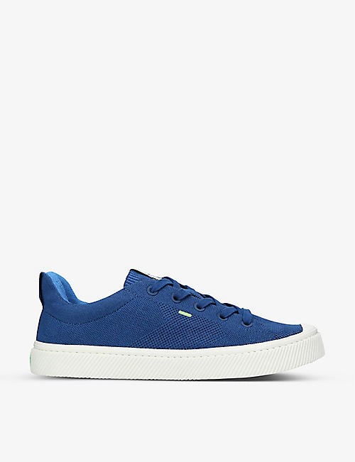 CARIUMA: Mens IBI Low bamboo-knit and recycled-polyester trainers
