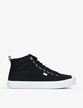 CARIUMA: Men's OCA High organic-cotton canvas trainers